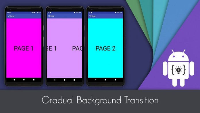 Change background transition in android