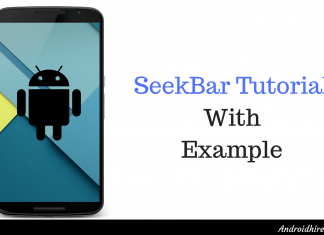 SeekBar Tutorial With Example