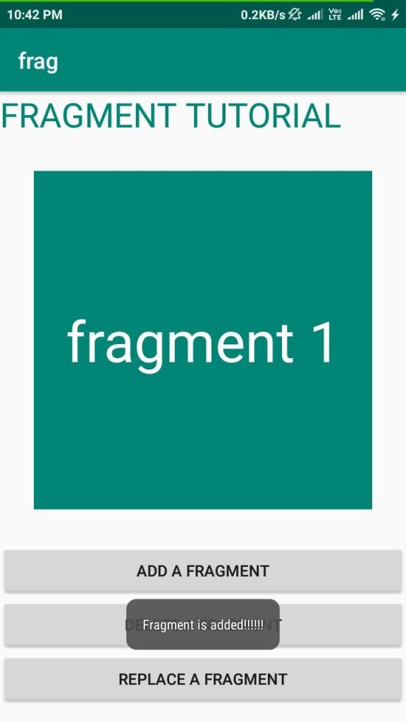 Fragment android