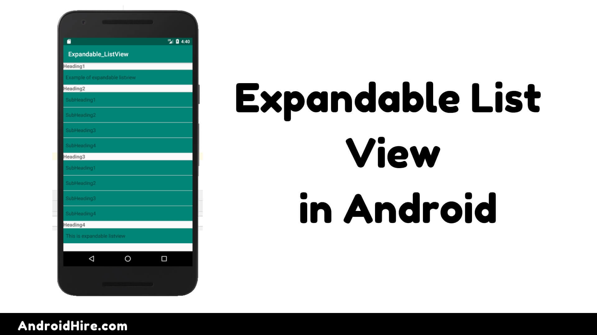 Expandable List View In Android - Android Hire