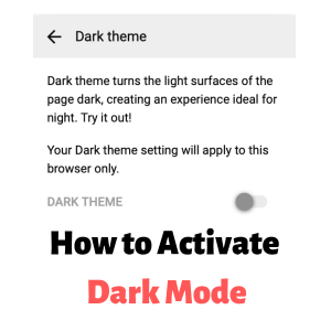 How to Activate Dark Mode