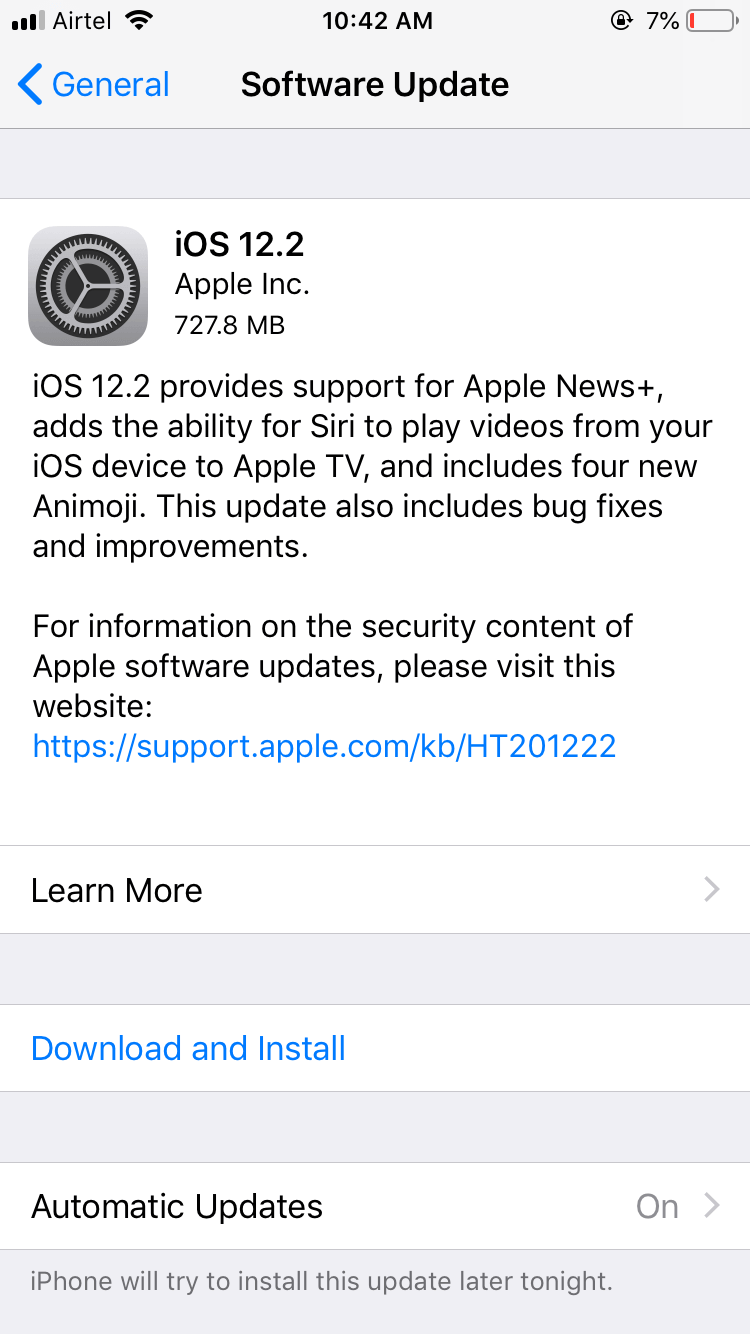 Apple ios 12. 2 updates are rolling out 1