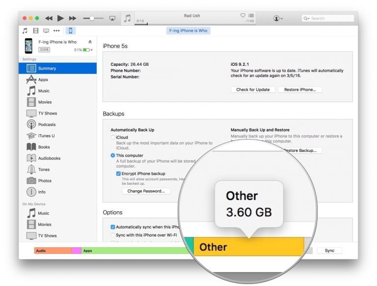 How to remove 'Other' files from iPhone and iPad