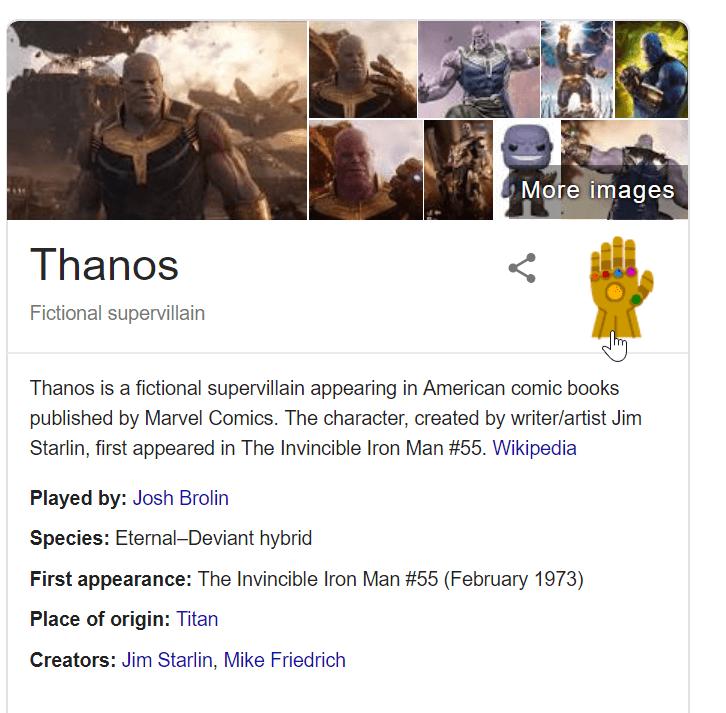 Thanos gauntlet trick