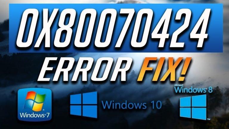 How to Fix Windows 10 Update Error 0x80070424 [WORKING Method]