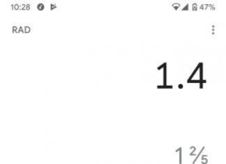 Google calculator-7.7 fractions