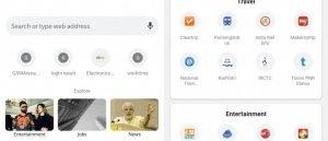 Explore Tab in Google Chrome