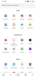 Google chrome expore tab