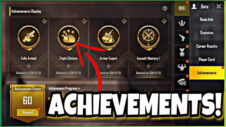 All PUBG Mobile achievements list