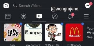 facebook app dark mode