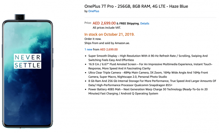 OnePlus 7T Pro Full Specification and Price