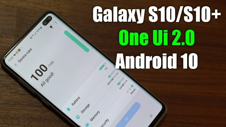 Samsung's One UI 2 supported phones list