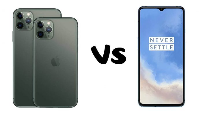 OnePlus 7T vs iPhone 11