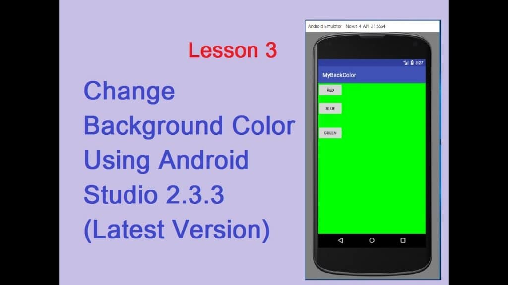 Change App Background Colour in the Android Studio 1