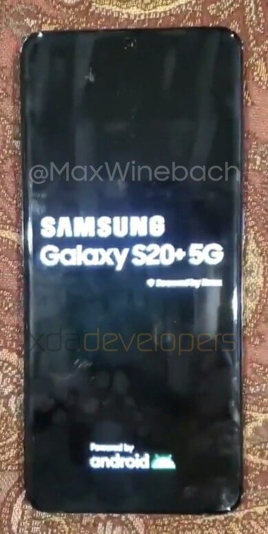 Samsung galaxy s20+ leaked, image surface online 1