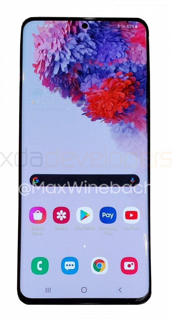 Samsung galaxy s20+ leaked, image surface online 2