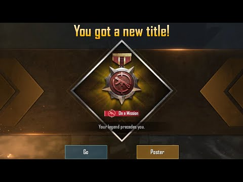 On a mission title in PUBG