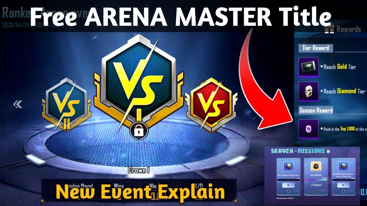Arena Master Title in PUBG Mobile