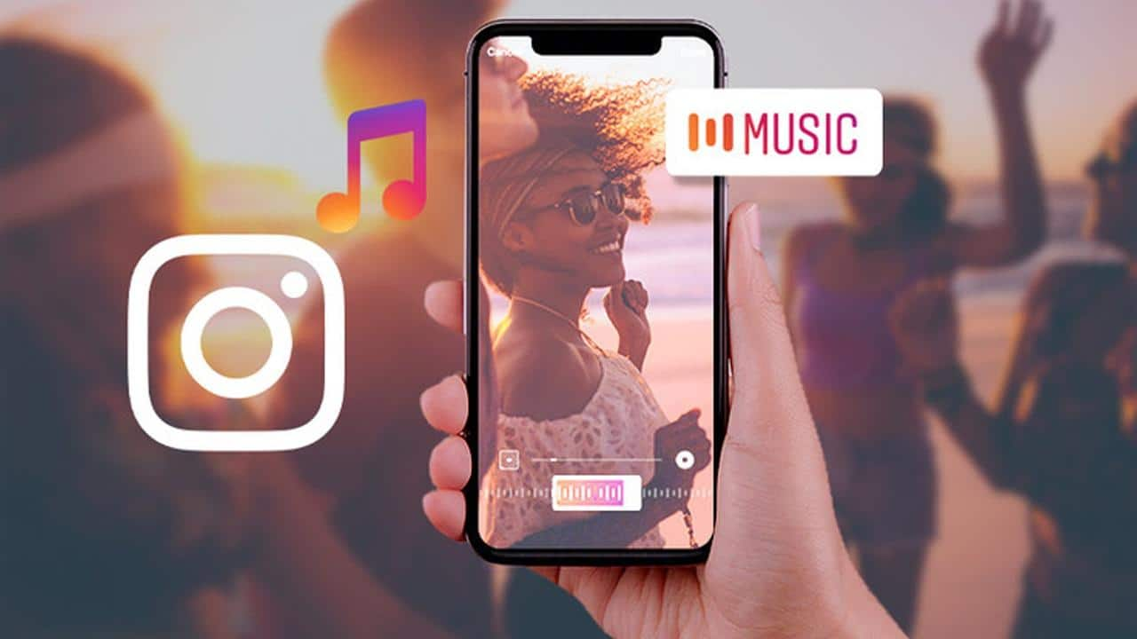 how to add music to IG story