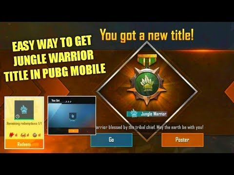 Jungle Warrior in PUBG Mobile