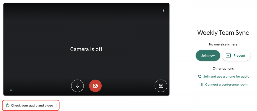 Google Meet can now test your setup before joining calls 1