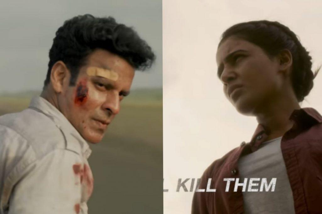 Manoj-bajpayee-as-srikant-tiwari-and-samantha-akkineni-as-rajji-in-the-new-the-family-man-season-2-trailer