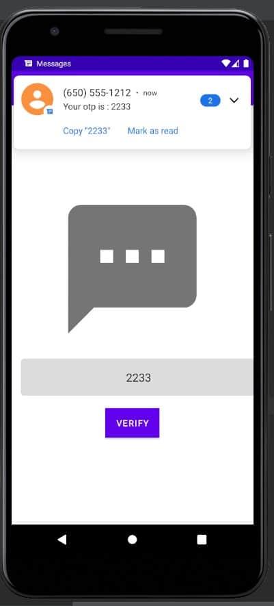 Automatically reading sms to verify otp 4
